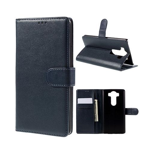 Leather Phoenix LG V10 Läderfodral med Stativ och Korthållare – Mörkblå