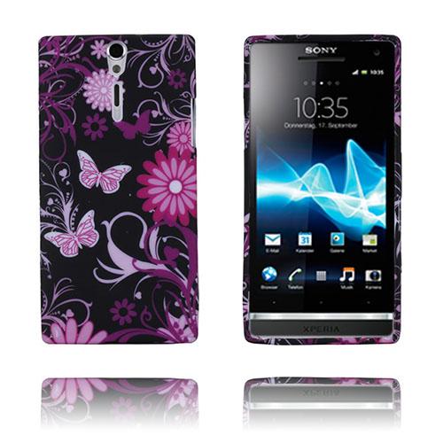 Symphony (Rosa Fjärilar) Sony Xperia S Skal