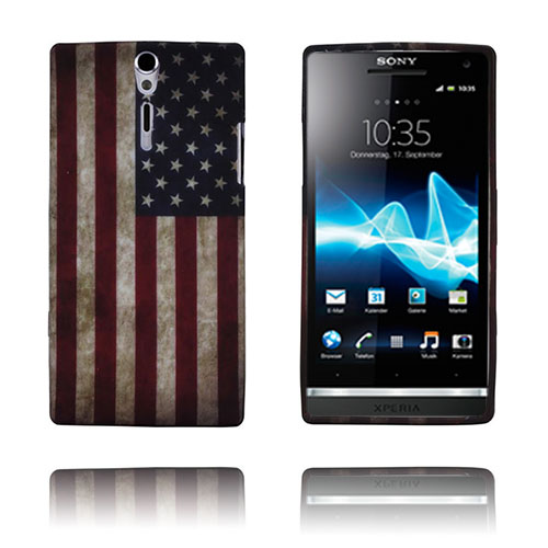 Retro Flag (USA) Sony Xperia S Skal