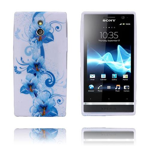 Symphony (Blå Blommor) Sony Xperia P Skal