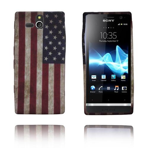 Retro Flag (USA) Sony Xperia U Skal