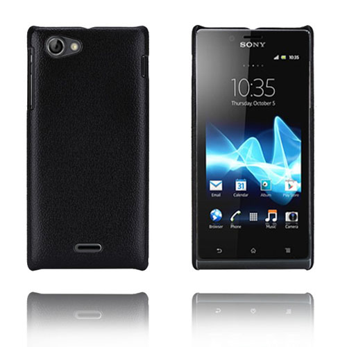 Alpha (Svart) Sony Xperia J Skal