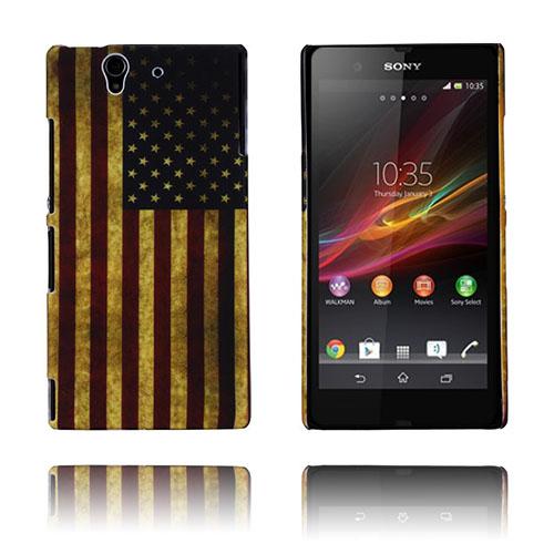Retro Flag (USA) Sony Xperia Z Skal
