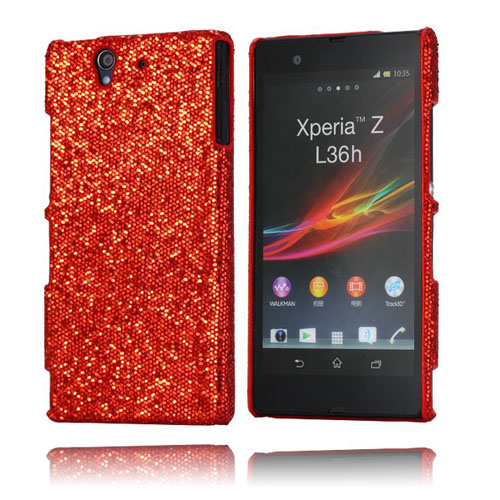 Glitter (Röd) Sony Xperia Z Skal