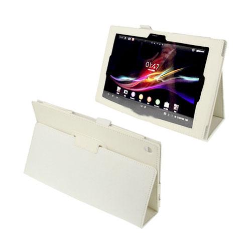 Simple (Vit) Sony Xperia Tablet Z 10.1 Läderfodral