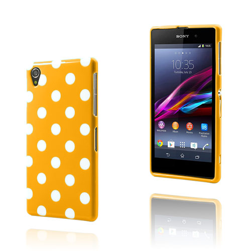 Polka Dots (Orange) Sony Xperia Z1 Skal