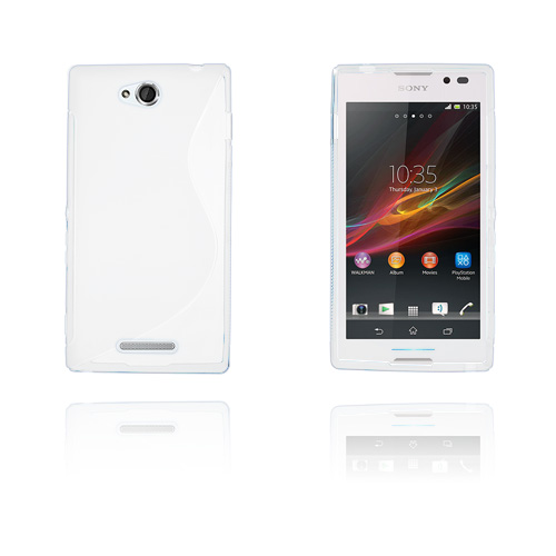 S-Line (Vit) Sony Xperia C Skal
