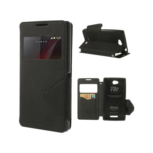 Techno (Svart) Sony Xperia C Flip-Fodral
