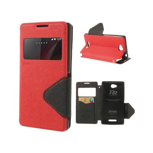 Techno (Röd) Sony Xperia C Flip-Fodral