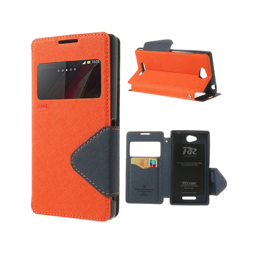 Techno (Orange) Sony Xperia C Flip-Fodral