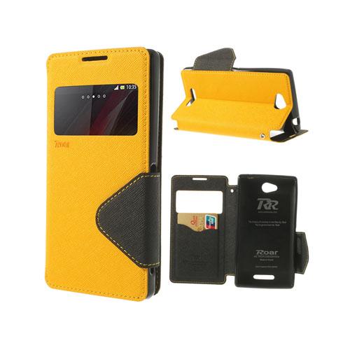 Techno (Gul) Sony Xperia C Flip-Fodral