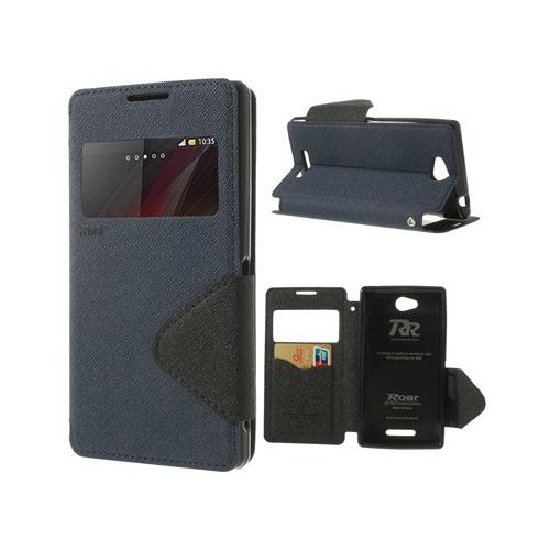 Techno (Mörkblå) Sony Xperia C Flip-Fodral