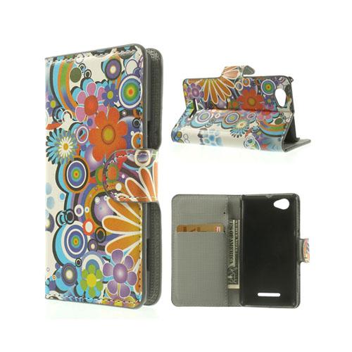Moberg (Färgfulla Blommor) Sony Xperia M Läder Flip Fodral