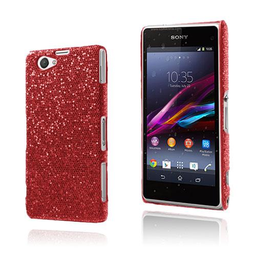 Glitter (Röd) Sony Xperia Z1 Compact Skal