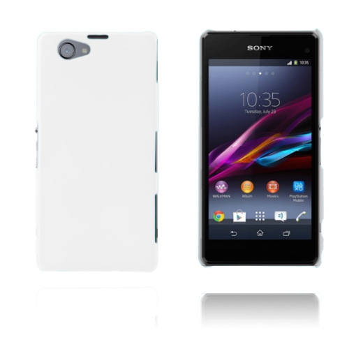 Hard Shell (Vit) Sony Xperia Z1 Compact Skal