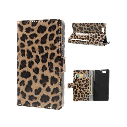 Leopard (Brun) Sony Xperia Z1 Compact Fodral