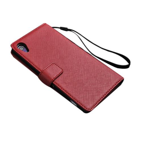 Ambassador (Röd) Sony Xperia Z2 Genuint Läderfodral