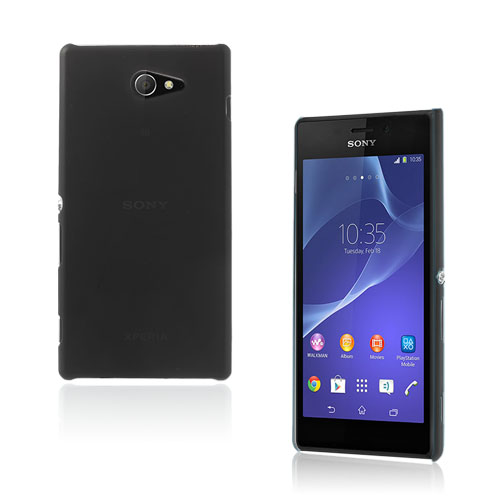 Hard Shell (Svart) Sony Xperia M2 Skal