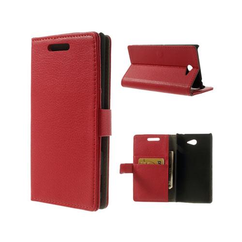 Wall Street (Röd) Sony Xperia M2 Läderfodral