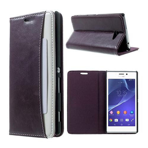 Mankell Wallet (Lila) Sony Xperia M2 Flip-Fodral