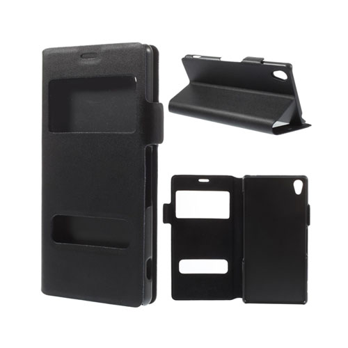 Bellman (Svart) Sony Xperia Z3 Äkta Läderfodral