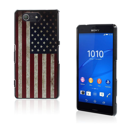Persson Sony Xperia Z3 Compact Skal – Vintage USA Flagga