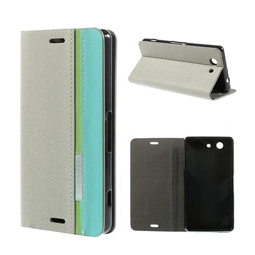 Trenter (Grå) Sony Xperia Z3 Compact Flip-Fodral