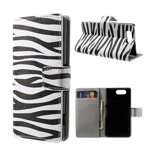 Moberg (Zebra) Sony Xperia Z3 Compact Flip-Fodral