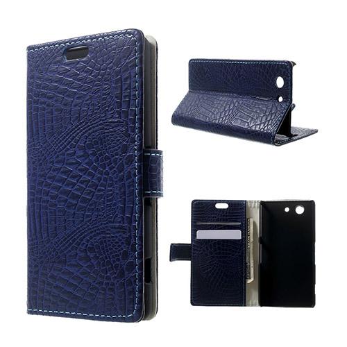Marx Skin Sony Xperia Z3 Compact Flip Fodral – Mörk blå