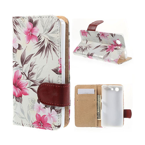 Moberg Descend Sony Xperia Z3 Compact Flip Fodral – Vit Blommor