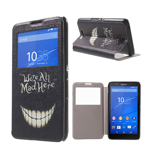Moberg View Sony Xperia E4 Fodral & Plånbok – Smiling & Quote