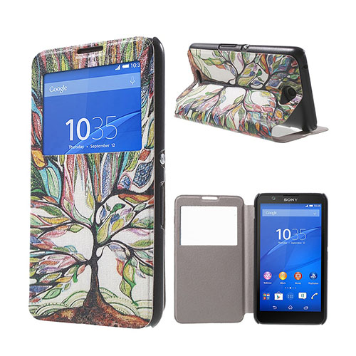 Moberg View Sony Xperia E4 Fodral & Plånbok – Färgstarkt Träd