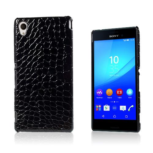 Fossum Sony Xperia M4 Aqua Skal – Svart Krokodil