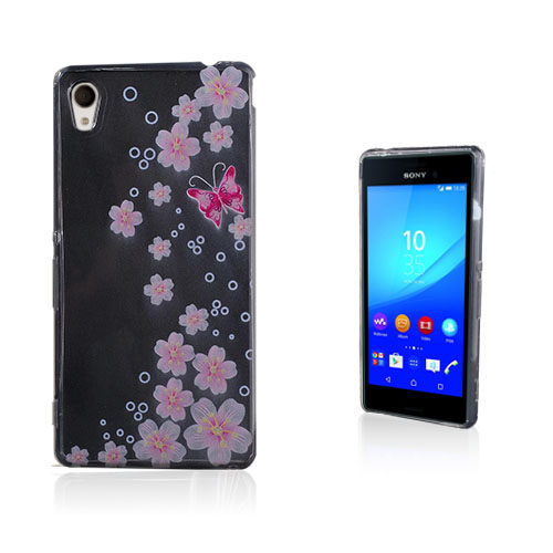 Westergaard Sony Xperia M4 Aqua Skal – Transparent Rosa Blomster