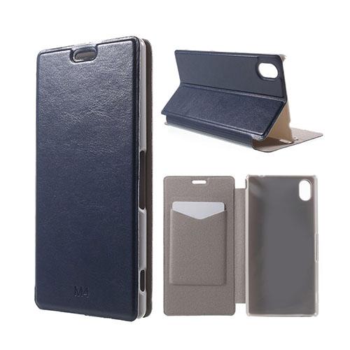 Mankell (Mörk Blå) Sony Xperia M4 Aqua Fodral Med Plånbok