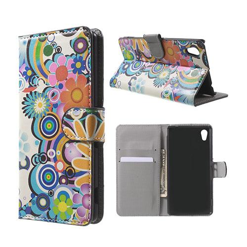 Moberg Sony Xperia M4 Aqua Fodral – Färgglada Blommor