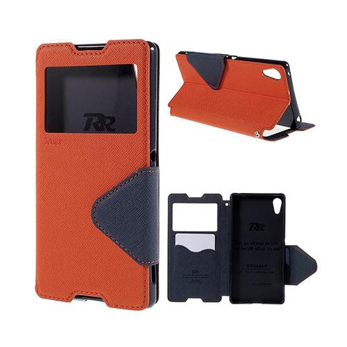 Roar Korea Sony Xperia Z3+ Fodral med Plånbok – Orange / Blå