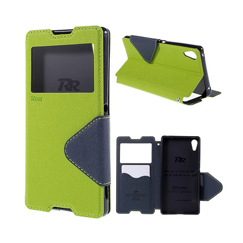 Roar Korea Sony Xperia Z3+ Fodral med Plånbok – Grön / Blå