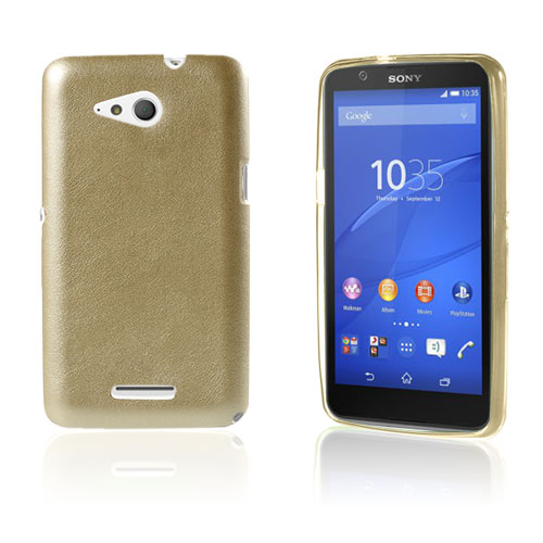 Nesboe Sony Xperia E4g E2003 / Dual 2033 Leather Coated TPU Case – Champagne