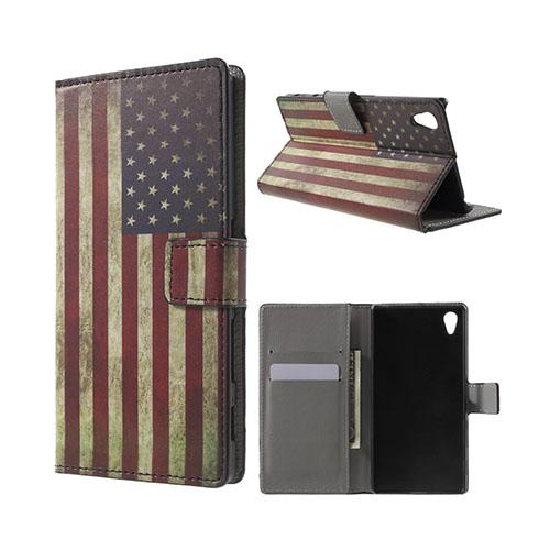 Moberg Sony Xperia Z5 Fodral – Retro Amerikanska Flaggan