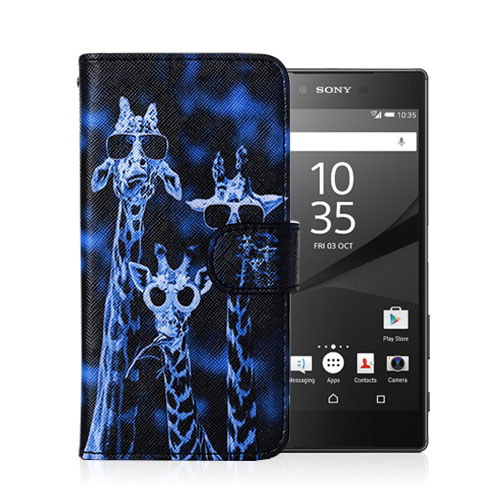 Moberg Sony Xperia Z5 Fodral – Häftigt Giraffer