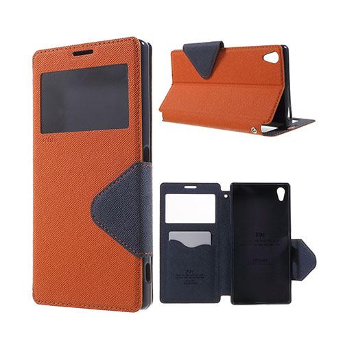 Roar Korea Sony Xperia Z5 Premium Läderfodral med Korthållare – Orange