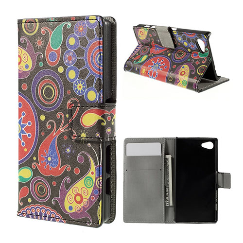Moberg Sony Xperia Z5 Compact Läder Fodral – Paisley Mönster
