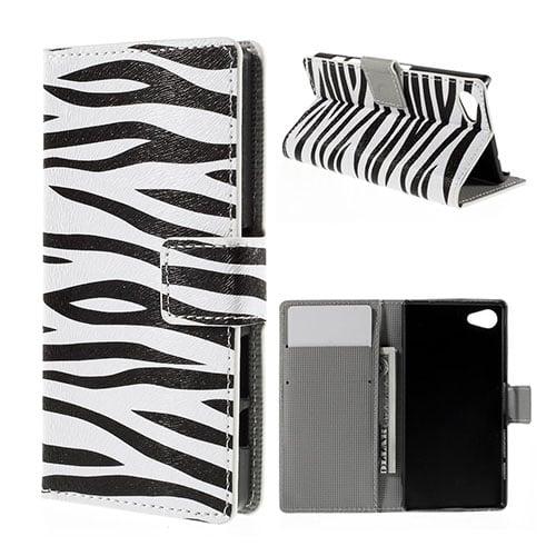 Moberg Sony Xperia Z5 Compact Läder Fodral – Zebra Ränder