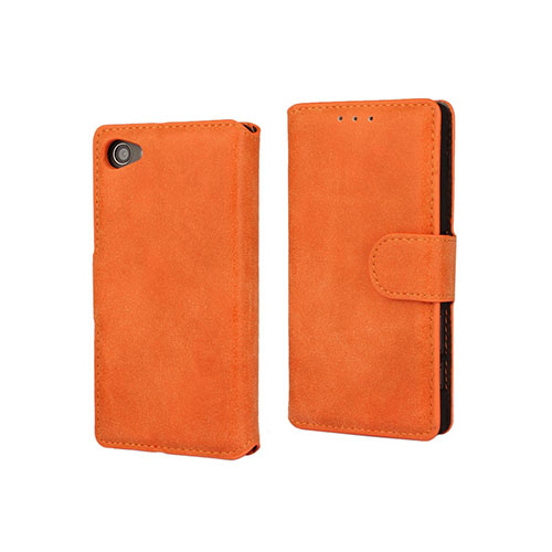 Leather Phoenix Sony Xperia Z5 Compact Läderfodral med Stativ – Orange