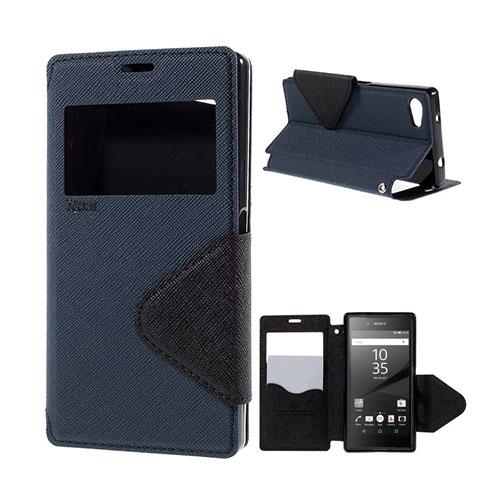 Roar Korea Sony Xperia Z5 Compact Läderfodral med Korthållare – Mörkblå
