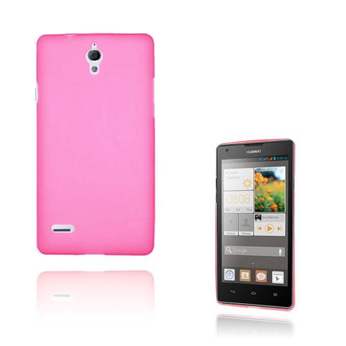 Soft Shell (Het Rosa) Huawei Ascend G700 Skal