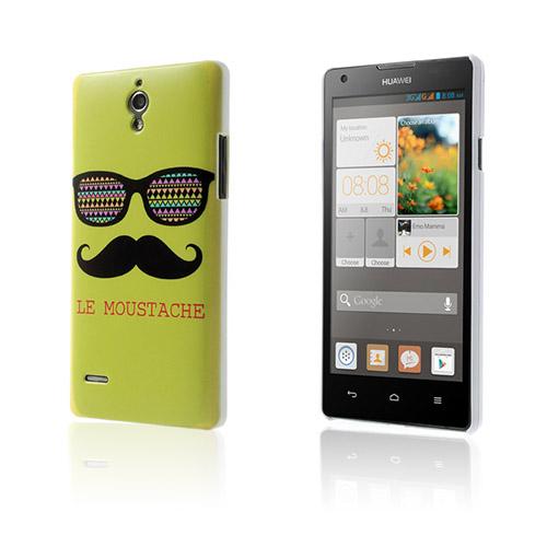 Westergaard (Mustache & Glasögon – Grön) Huawei Ascend G700 Skal