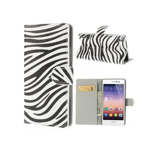 Festival (Zebra) Huawei Ascend P7 Flip-Fodral