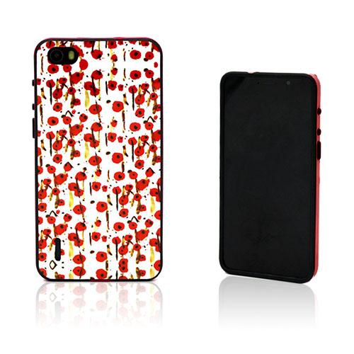 Wester Edge Huawei Honor 6 Skal – Röd Blommor